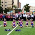 Торжественное открытие реконструированного спортивного стадиона школы